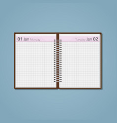 open diary on spring vector image