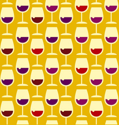 restaurant wine bar seamless pattern with wine vector image
