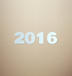 2016 on Cardboard background vector image