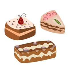 chocolate cakes vector image