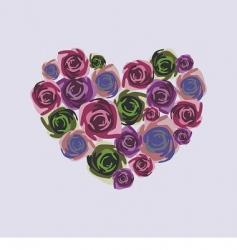floral heart design vector image vector image