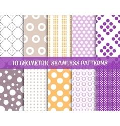 Seamless dot patterns romantic christmas set vector image vector image
