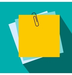 Sheet of paper for notes icon flat style vector image
