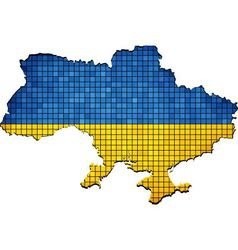Ukraine map grunge mosaic vector image vector image