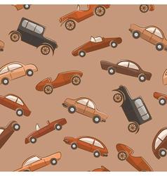 Vintage cars pattern vector image vector image