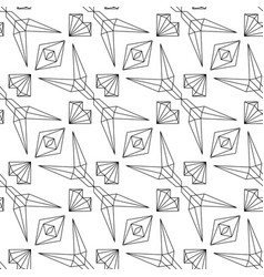 Abstract linear seamless pattern on white vector