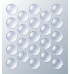 Bubblewrap packaging with air bubbles vector image