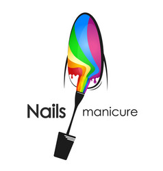 painting and manicure of nails vector image