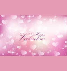 purple valentine heart background vector image