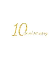 10 anniversary logo concept 10th years birthday vector image