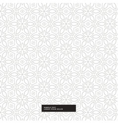 Abstract flower pattern background vector