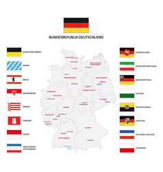 administrative map germany with flags vector image