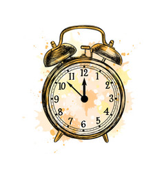 alarm clock analog classic vintage style from vector image