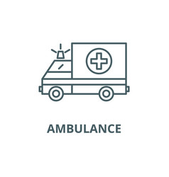 ambulance line icon ambulance outline vector image