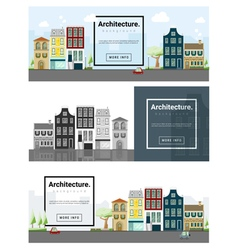 Architecture background Cityscape banner 1 vector