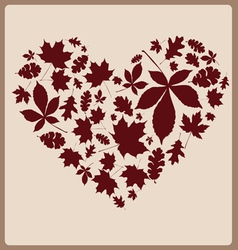 autumn leaves one color vector image