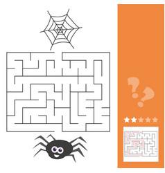 Cartoon of education maze or labyrinth activity vector