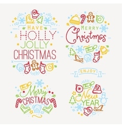 Christmas elements color vector