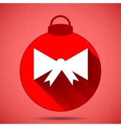 Christmas icon with the silhouette of a bow on vector