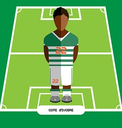 Computer game Cote dIvoire Football club player vector