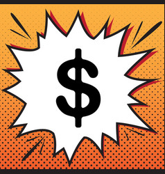 Dollars sign usd currency symbol vector