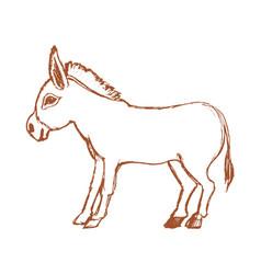 Donkey symbol of stubbornness vector