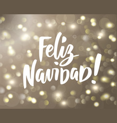 Feliz navidad text holiday greetings spanish vector