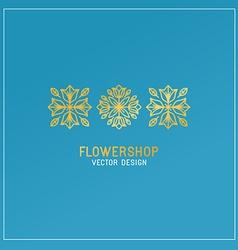 Flower shop logo vector