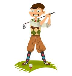 Golfer cute cartoon vector
