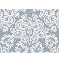 Gray lace background vector