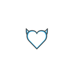 heart icon design lifestyle icon vector image