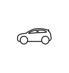 icon of car black vector image