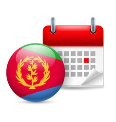 Icon of national day in eritrea vector