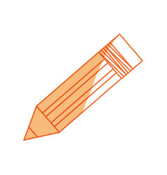 isolated cute pencil vector image