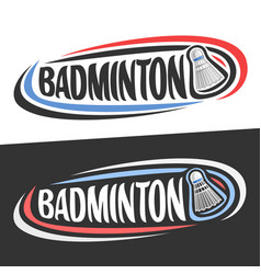 Logos for badminton vector