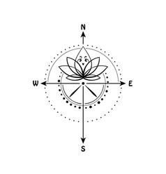 Lotus tattoo vector