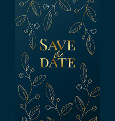 luxury wedding invitation design or greeting card vector image