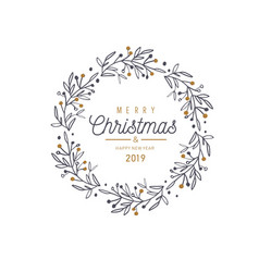 Merry christmas and new year card banner vector