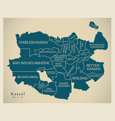 Modern city map - kassel city of germany with vector