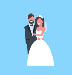 newlyweds just married man woman embracing vector image