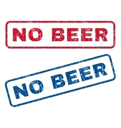 No Beer Rubber Stamps vector image