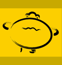 Offended smiley on a yellow background eps10 vector