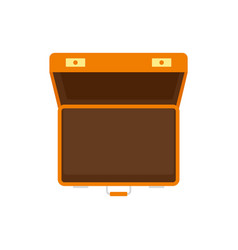 open suitcase icon flat style vector image