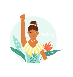 protesting girl girl power vector image