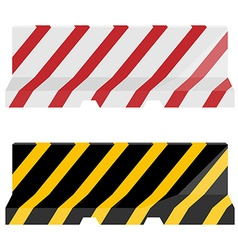 Road barrier set vector