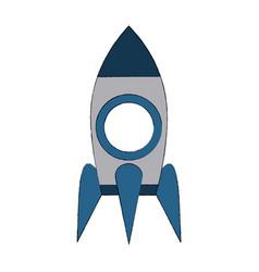 rocket start up symbol vector image vector image