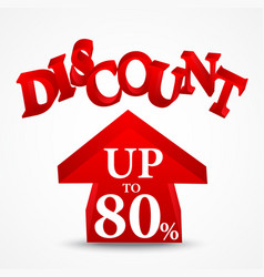 Sale and discount design vector