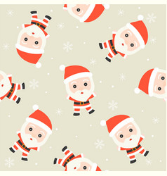 santa claus christmas seamless pattern theme for vector image