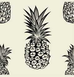 Seamless pattern with pineapples vector