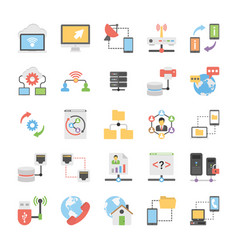Set of communication and networking icons vector